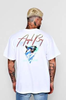 boohoo Oversized Angel Back Print T-Shirt