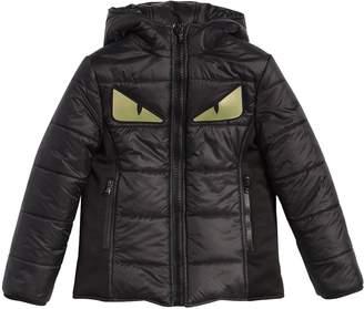 Fendi Monster Eyes Hooded Nylon Puffer Jacket