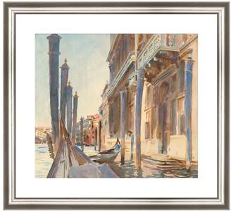 McGaw Graphics Gondola Moorings on the Grand Canal, 1904/07 by John Singer Sargent (Framed Print)