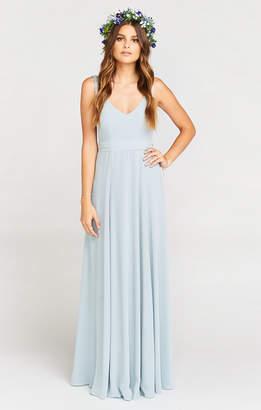 Show Me Your Mumu Jenn Maxi Dress ~ Steel Blue Chiffon