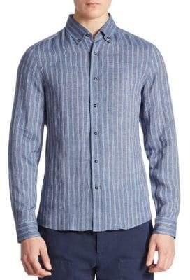 Brunello Cucinelli Striped Long Sleeves Shirt