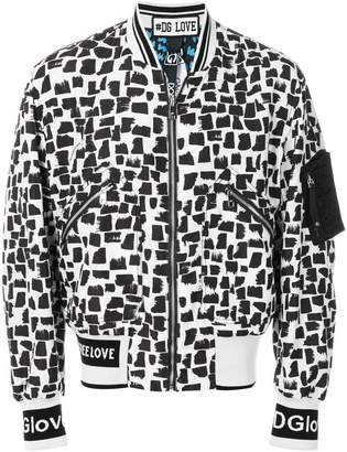Dolce & Gabbana abstract print bomber jacket