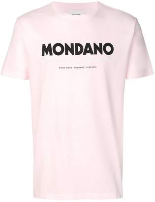 Wood Wood Mondano slogan T-shirt