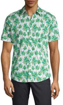 Original Penguin Palm Print Sport Shirt