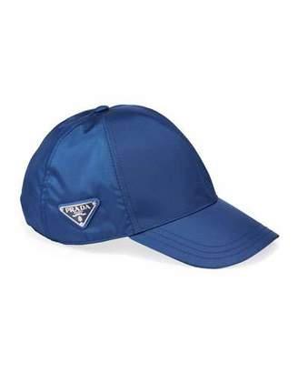 Prada Men's Logo-Plaque Baseball Cap