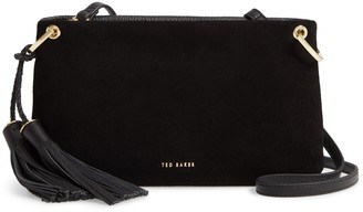 Ted Baker Demetra Tassel Suede & Leather Crossbody Bag