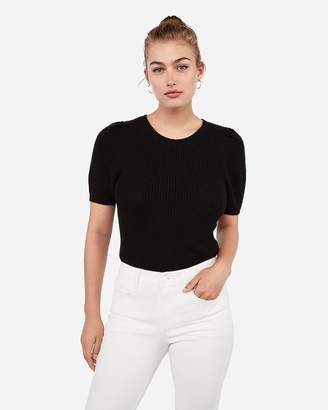 Express Crew Neck Puff Sleeve Sweater