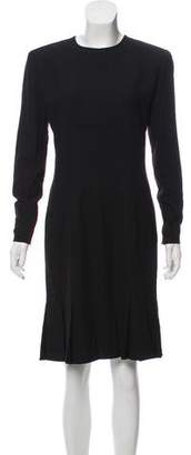 Calvin Klein Pleated Long Sleeve Dress