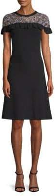 Elie Tahari Ruffle-Trim Sweater Dress
