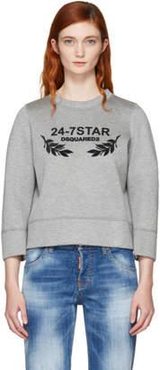 DSQUARED2 Grey Felted Logo Sweatshirt