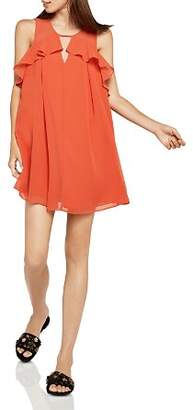 BCBGeneration Ruffled Pleated A-Line Dress
