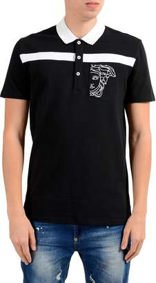 Versace Men's Black Short Sleeve Polo Shirt US M IT 50;