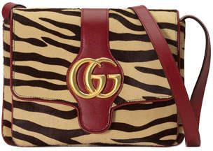 Gucci Arli Medium Tiger-Print Shoulder Bag