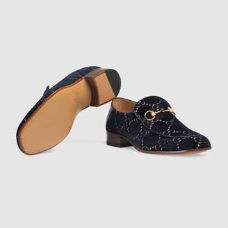 Gucci GG velvet Horsebit loafer