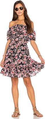 Seafolly Nouveau Floral Off Shoulder Dress in Black $171 thestylecure.com