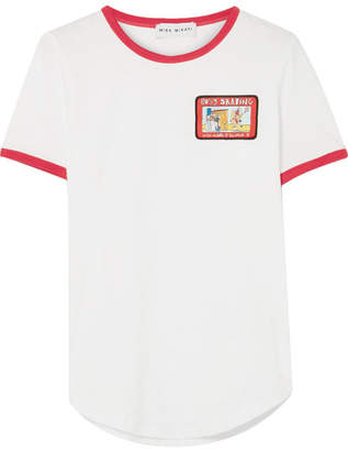 Mira Mikati Appliquéd Cotton-jersey Tee - White
