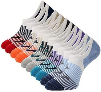 The One Mens No Show Low Cut Socks 5Pack Striped Casual Cotton Ankle Non-Slide Socks