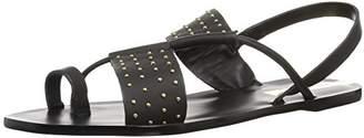Kaanas Women's Sao Paulo Studded Leather Flat Sandal