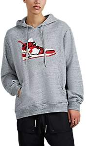 Mostly Heard Rarely Seen 8-Bit Men's Virgil Sneaker-Graphic Cotton Hoodie - Gray