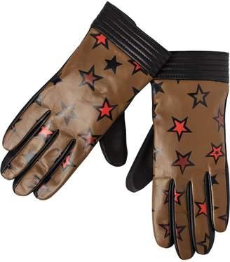 Scotch & Soda Printed Leather Gloves