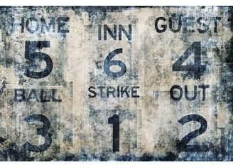 Pottery Barn Teen Baseball Scoreboard Wall Mural, 6'x4'