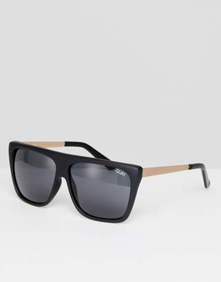 Quay Otl Ii Square Sunglasses In Black