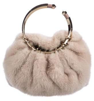 Valentino Bebop Fur Handle Bag pink Bebop Fur Handle Bag