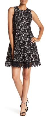 Donna Ricco Bonded Lace Dress