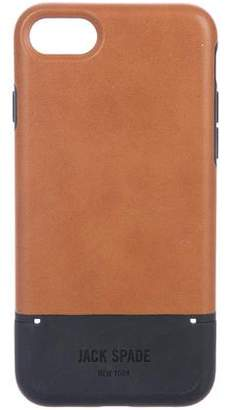 Jack Spade Leather-Trimmed iPhone 7 Phone Case