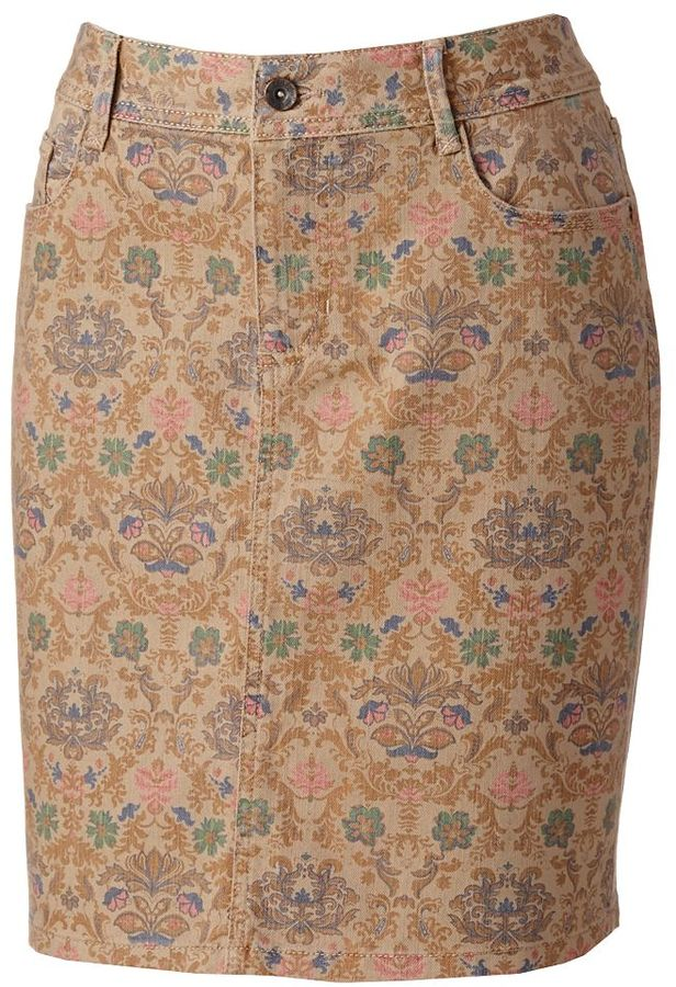 Sonoma life + style ® modern fit floral denim skirt