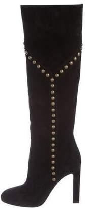 Saint Laurent Studded Knee-High Boots