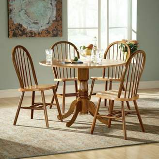 INC International Concepts International Concepts Hickory Valley 5 Piece Dual Drop Leaf Table with Windsor Chairs