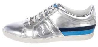 Christian Dior Metallic Leather Sneakers