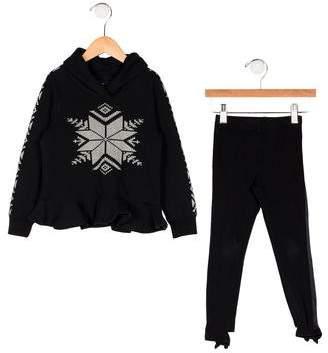 Ralph Lauren Girls' Printed Sweatshirt Set