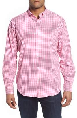 Bugatchi Classic Fit Gingham Performance Sport Shirt