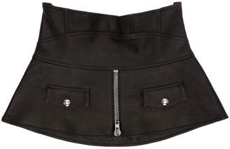 Alexander Wang Black Leather Biker Waist Cinch Belt