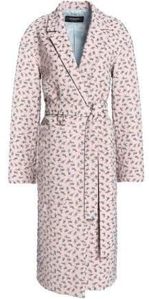 Belted Jacquard Coat