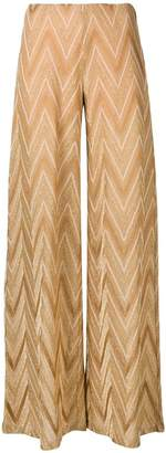 M Missoni chevron pattern wide trousers