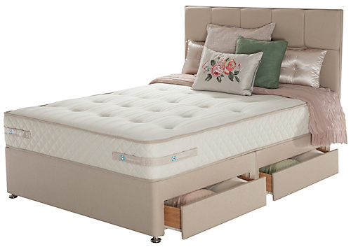 Sealy Memory Ortho 1500 Pocket Superking 4 Drw Divan Bed Home