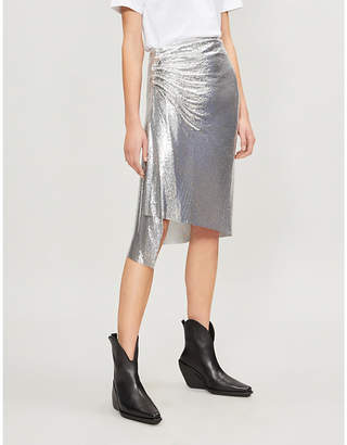 Paco Rabanne Metallic chainmail skirt