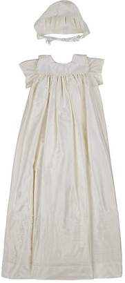 Isabel Garreton Infants' Silk Satin Christening Gown & Bonnet - Cream