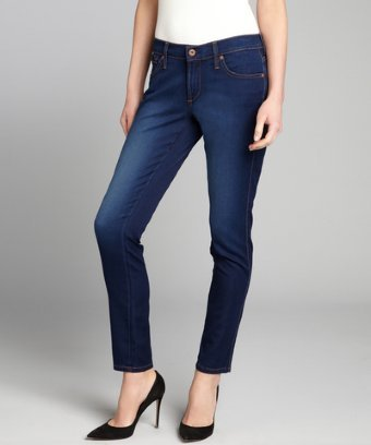 James Jeans light teal stretch denim 'Twiggy' legging skinny jeans