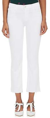 J Brand Women's Selena Crop Flared Jeans - White