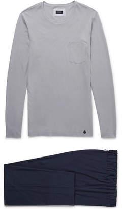 Hanro Cotton-Jersey Pyjama Set - Men - Gray