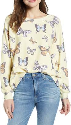 Wildfox Couture Sommers Butterfly Sweatshirt