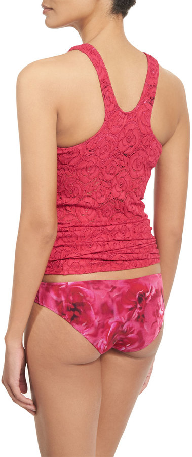 Fuzzi Floral-Embroidered Lace Tankini Swimsuit Set 4