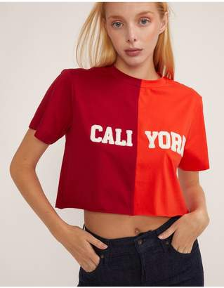 Cynthia Rowley Embroidered Cropped Caliyork T-Shirt