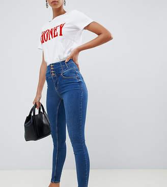 New Look Tall High Waist Skinny Blue Jean