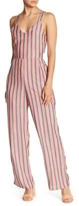 Love + Harmony V-Neck Stripe Jumpsuit