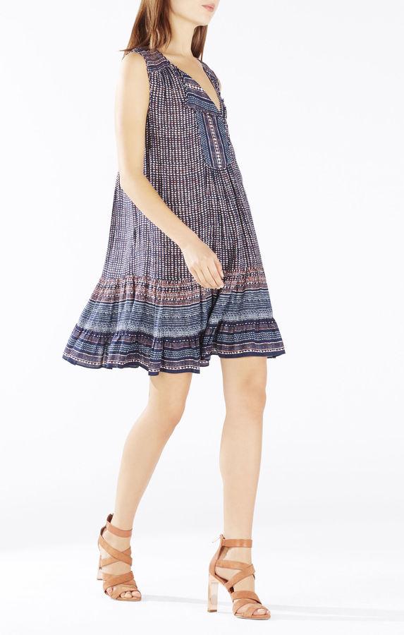 BCBGMAXAZRIAYulissa Sleeveless Ruffle Dress